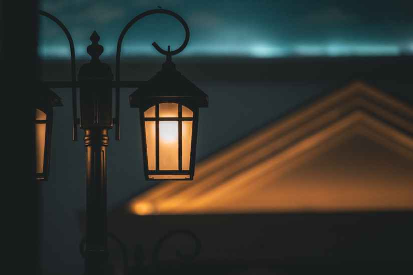 close up photo of street lamps